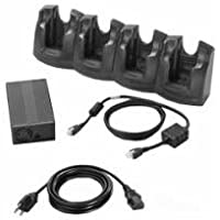 Zebra Technologies CRD3X01-4001ER 4-Slot Ethernet Cradle for Model MC30XX and MC31XX, Requires Power Supply, DC Cable, and AC Line Cord