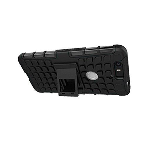 Huawei Nexus 6P Funda,COOLKE Duro resistente Choque Heavy Duty Case Hybrid Outdoor Cover case Bumper protección Funda Para Huawei Nexus 6P - Rosa negro