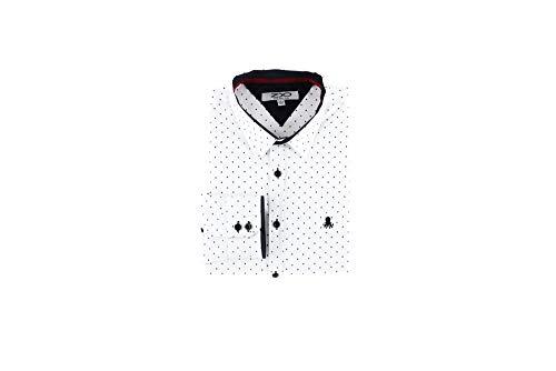 Z8 Kyle - Polka Dot Dress Shirt White