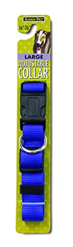 Petmate 0327817 Adjustable Dog Collar, 1 by 16-26-Inch