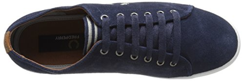 Fred Perry Sneaker Hombre Men Shoe Kingston Tennis Suede Carbon Azule
