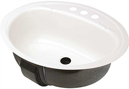 Bootz Industries 021-2440-00 Oval Bathroom Sink, Undercounter Mount 19 in. X 16 in. - Undercounter Sink Mount