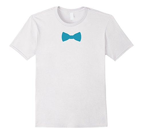 Mens Funny party - Bow Tie T-Shirt XL White (Grandma Halloween Costume Ideas)