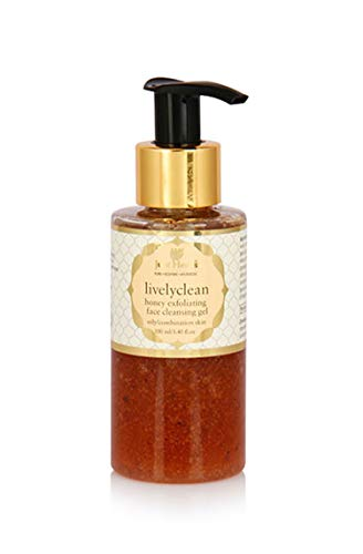 Just Herbs Livelyclean Honey Turmeric Exfoliating Face Cleansing Gel, 3.4 Ounce