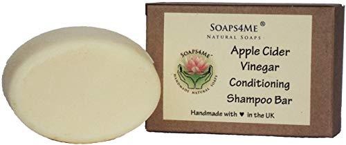 ATTIS Handmade Apple Cider Vinegar Conditioning Shampoo Bar | with Kaolin Clay | Almond Oil | Shea Butter | Sulfate Free | Aloe Vera gel | For Men & Women | Vegan ()