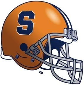 4 Inch Syracuse Orange Football Helmet University SU Logo Removable Wall Decal Sticker Art NCAA Home Room Decor 4 by 3 Inches