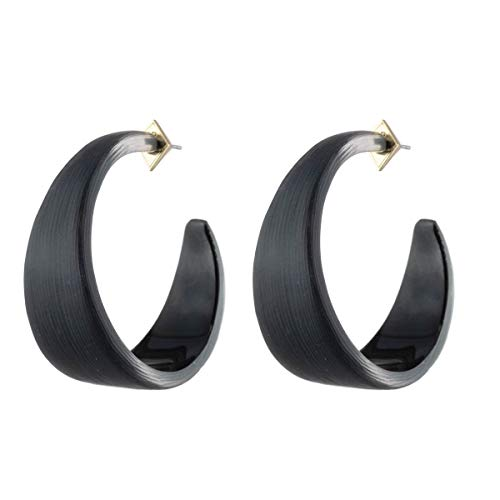 Alexis Bittar Women's Wide Graduated Medium Hoop Earring -