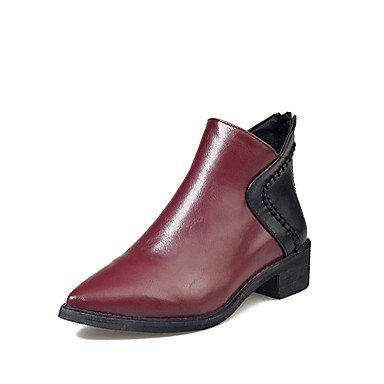 UK5 Invierno CN38 Zapatos Botas Fucsia La RTRY Confort Convergencia Chunky De De EU38 Señaló Negro Moda 5 Cremallera Mujer Pu Botas Casual Talón US7 5 tStxBw