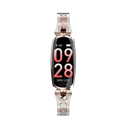 (Smartwatch for Women,WoCoo Fashion Multifunction Activity Fitness Tracker,IP68 Waterproof Sleep monitoring Smart Wristband(Gold))