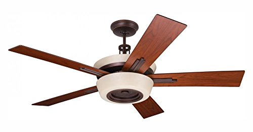Nine Light Venetian Bronze Ceiling Fan (Venetian Light Bronze Nine)