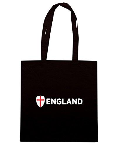 T-Shirtshock - Bolsa para la compra TR0043 england t-shirt Negro