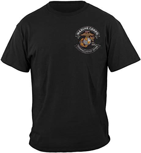Marine Corps T-Shirt USMC Marine Corps Biker MC T-Shirt MM2398