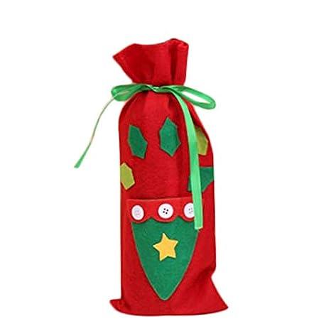 Hosaire 1x Bolsa para Botella,Encantador Navidad Botella de Vino Bolsas Inicio Decoración Mesa Decoración Decoración Bolsa Size 13.5 * 33cm (Bolsillo)