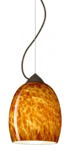 Besa Lighting 1KX-169718-BR Lucia - One Light Pendant, Choose Finish: BR: Bronze, Choose Mounting Option: 1KX: Dome Canopy Cable Fixture, Choose Lamping Option: 100W Incandescent Medium Base ()