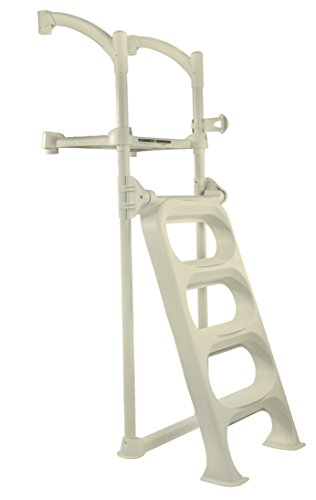 BiltMor Above Ground Pool Step and Flip Up Ladder System | Strong & Stable Ladder Only | Fits Pools Up to 54 Inches in Depth