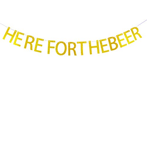 Here for the beer banner bachelorette ,bachelo,engagement,anniversary,gradulations,Bridal Shower party decorations