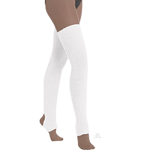 "Eurotard 2625 36"" Stirrup Legwarmer (White, OSmallFA) from Eurotard"
