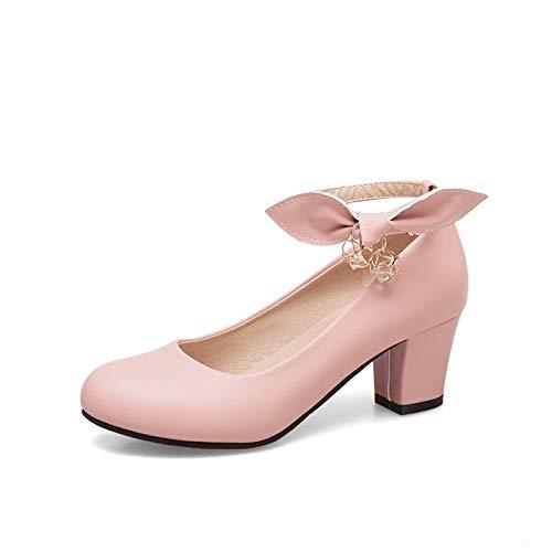 Beige Pink Shoes White Polyurethane Spring White Chunky Summer Comfort Heels amp; Heel Women's ZHZNVX PU x7HOF