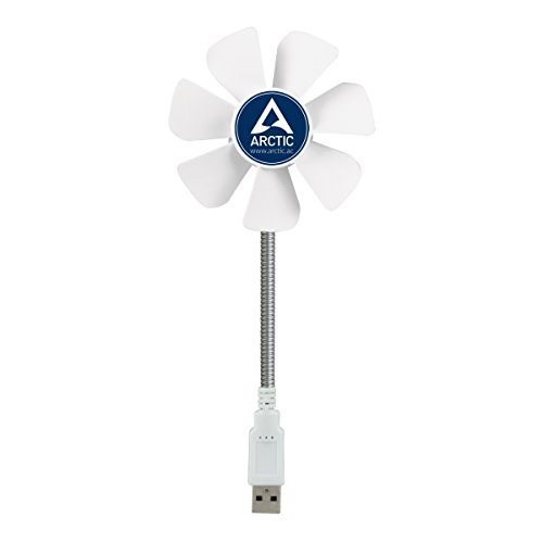 Mobile Fan (ARCTIC Breeze Mobile - Mini USB Desktop Fan with Flexible Neck and Adjustable Fan Speed I Portable Desk Fan for Home, Office I Silent USB Fan I Fan Speed 1700 RPM - White)