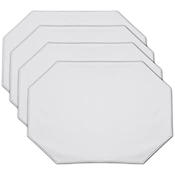 Amazoncom Vinyl Placemats White Set Of X Inches Home - Clear placemats for table