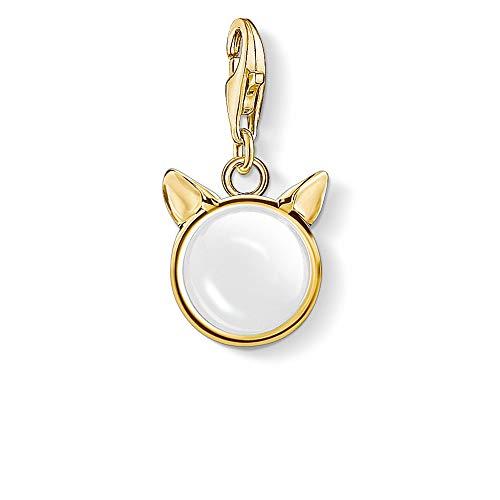 Thomas Sabo Charm Club Sterling Silver Cats Ears Gold Charm Pendant 1841-413-14
