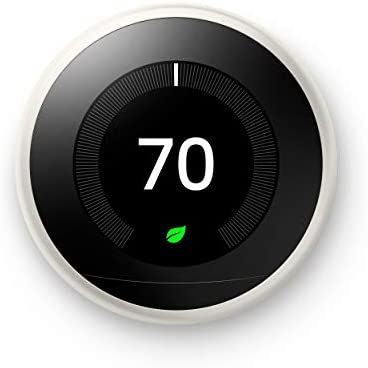 Google Nest Learning Thermostat - Programmable Smart Thermostat for Home - third Generation Nest Thermostat - Works with Alexa - White
