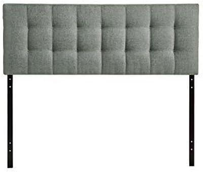 Full Size Upholstered Tufted Headboard (Gray)