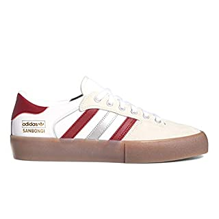 adidas Matchbreak Super x Shin (White/Collegiate Burgundy/Gum4) Men's Skate Shoes-10.5