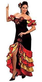 4980f7504b6d Aura Fancy Dress (TM) Mexican Spanish Flamenco Rumba Female Dancer Costume