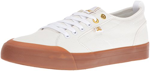 DC Men's Evan Smith TX Skateboarding Shoe, Off White/Gum, 12 M US