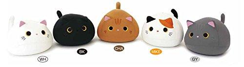 Black Cat Plush Pillow | Mogu Mike Big Eyes Plushie 7