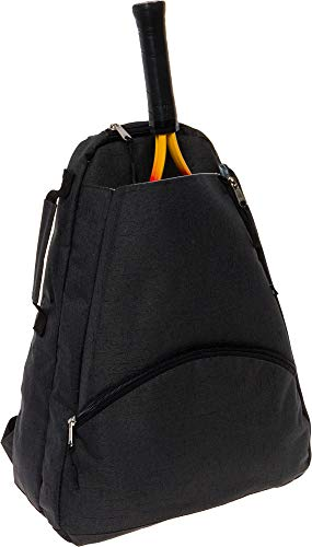 LISH Men's Court Advantage Tennis Backpack - Racket Holder Equipment Bag for Tennis, Racquetball, Squash (Black)
