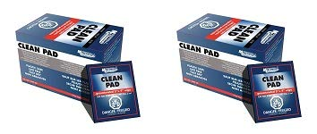 MG Chemicals Presaturated Clean Pad, 4'' x 3'' Wipes, Contains 91% Isopropyl Alcohol, Box of 50 (2-(Pack))