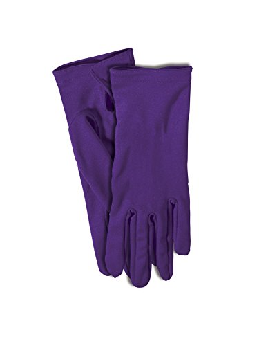 Forum Novelties Short Wrist Length Costume Gloves for Adults - Purple - One Size