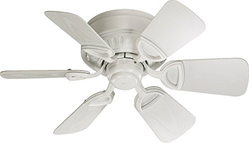 Quorum International 151306-8 Medallion 6-Blade Flush Mount Patio Ceiling Fan with Studio White ABS Blades, 30-Inch, Studio White Finish Review