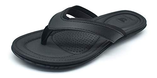 Womens Yoga Mat Flip Flops Foam Cushioning Slip on Thong Sandals Summer Beach Shoes Non Slip Rubber Sole Black