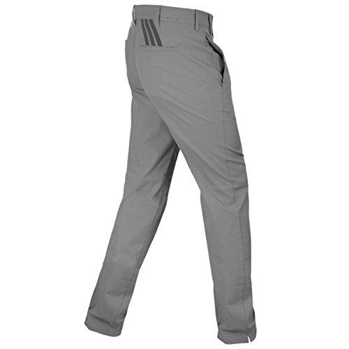 2015 Adidas Puremotion Stretch 3-Stripes Pants Mens Golf Flat Front Trousers Vista Grey/White 40x30