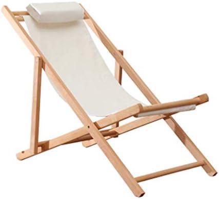 LNDDP Sillas de jardín Tradicionales en la Playa Tumbonas clásicas Sillones reclinables Sillas Tumbonas de Madera Sillas de Camping reclinables, Blanco Máx. 150 kg: Amazon.es: Deportes y aire libre