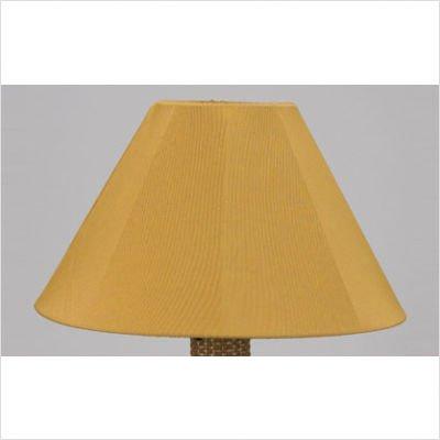 Catalina Umbrella Table Outdoor Lamp with Sunbrella Shade Lamp Finish: Bronze, Lamp Shade: Brass