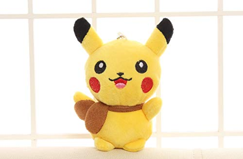 PAPWELL Pikachu Toy 5 inch Hot Toys Pokemon Soft Stuffed Plush Christmas Halloween Birthday Stuff Collectable Gift Movie Cartoon Mini Collectible Gifts Cute Small Collectibles for Baby Kids -