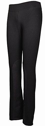 TuffRider Women's Ribbed Boot Cut Tights Breech, Black, 26 (33 Contemporary Post)