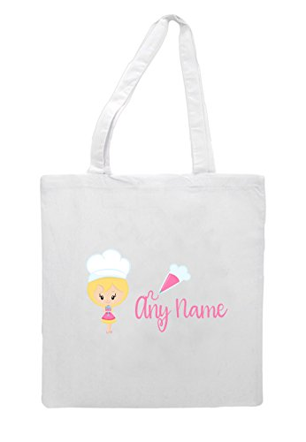 Bag Blonde Shopper Short Hair With Little Icing Personalised Lb20 White Bakers Tote xSznvR