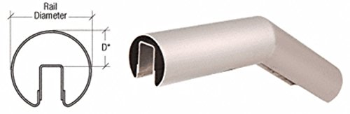 """CRL Brushed Stainless 29 Degree Upper Incline Corner for 2"""" Diameter Railing"""