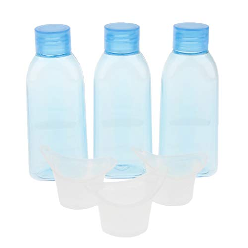 Fenteer 6x Refillable Empty Travel Mouthwash Eyewash Lotion Bottles with Screw Caps - 100ml