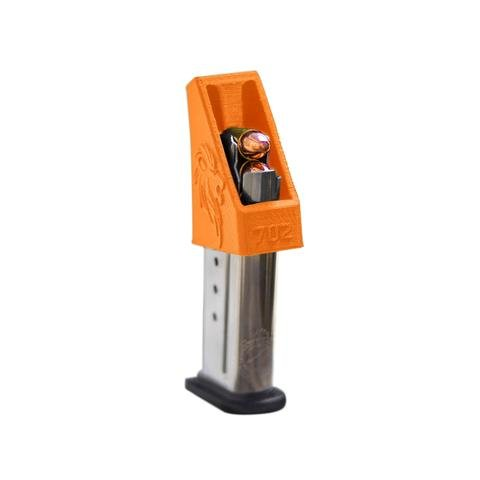 (RAEIND Magazine Speedloader for M&P Shield, Springfield XD-S, Ruger LCP, Sig 938, All Colt 1911 Single Stack, 9mm, 40, 45 ACP Pistols (RAE-702) (Orange))