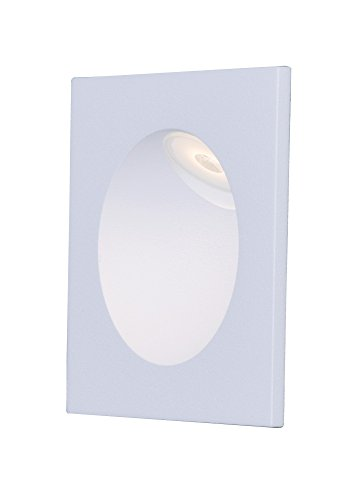 ET2 E42403-WT Alumilux LED Step Light Outdoor Wall Mount, White Finish, Glass, PCB LED Bulb, Dry Safety Rated, 3000K Color Temp., Shade Material, 1440 Rated Lumens