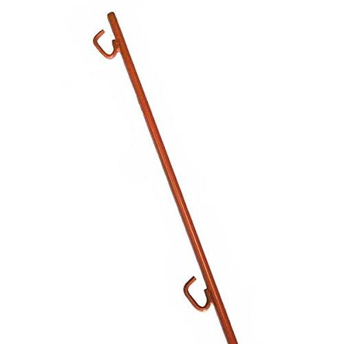 ロープスティック 10本入り 2段フック 1500mm オレンジ ロープ杭 B01GQ39UKA