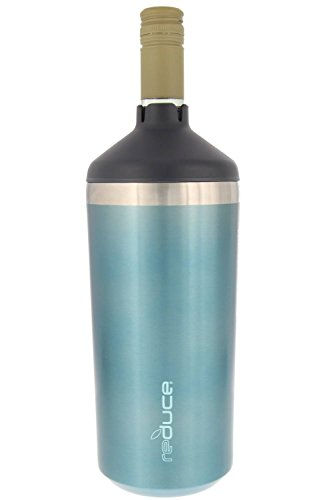 Portable Wine Bottle Cooler by REDUCE-Stainless Steel, Insulated Chiller to Keep Wine at the Perfect Temperature, No Ice Required-Ideal for Outdoor Summer Parties, Fits Most Wine Bottles – Ocean Blue by reduce