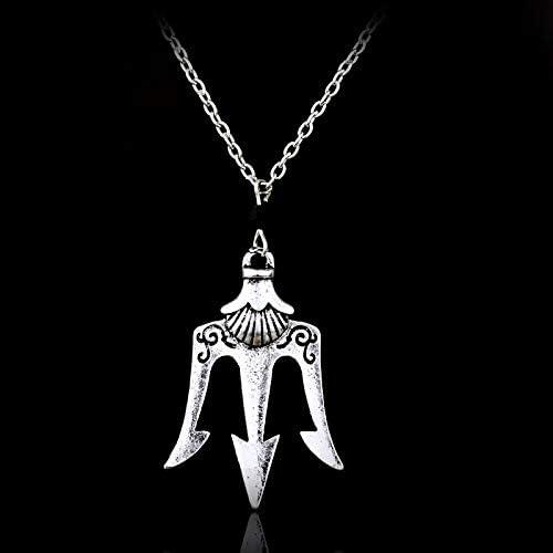 CLEARNICE Collar de Hombre Percy Jackson Los Olímpicos El Mar De Percy Jackson Collar Poseidón Collar para Hombres Y Mujeres
