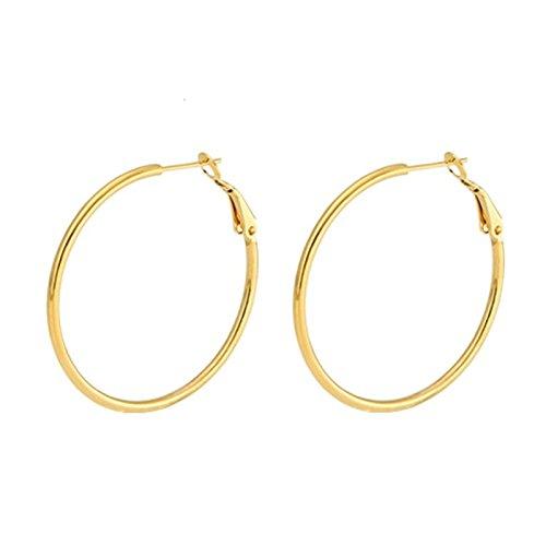 Different Types Of Nerd Costumes (Beydodo 1 Pair 2MM Stainless Steel Hoop Earrings for Women Earrings Hoop Gold 30MM Round Earrings)